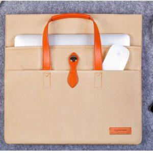 Cartinoe Macbook Handtasche 13 Zoll Braun
