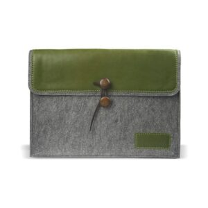 Filz Leder Tasche Tasche 13 Zoll Grün