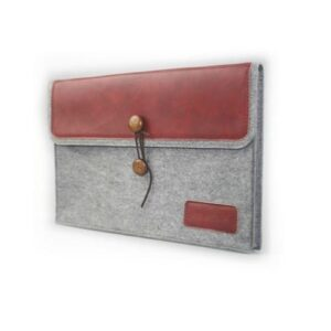 Filz Leder Tasche Tasche 13 Zoll Rot