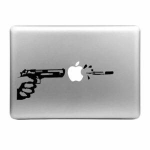 MacBook Sticker Tattoo Gun