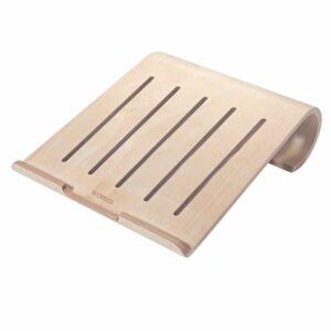 Samdi Holz Stand für Macbook iPad Pro Hellbraun