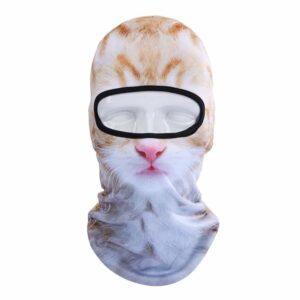 Ski Snowboard Maske mit 3D Druck Katze