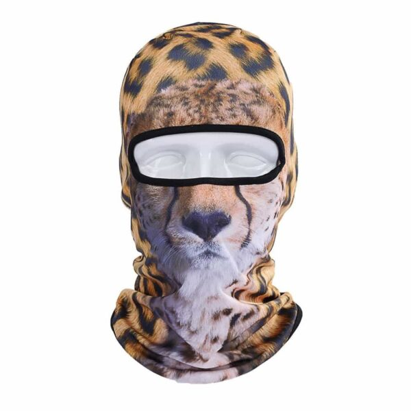 Ski Snowboard Maske mit 3D Druck Leopard
