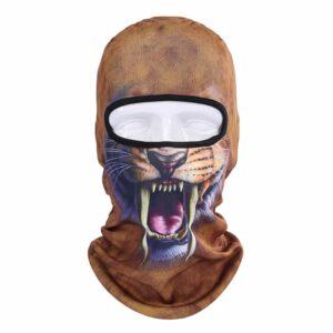 Ski Snowboard Maske mit 3D Druck Säbelzahn Tiger