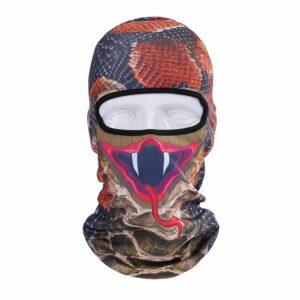 Ski Snowboard Maske mit 3D Druck Schlange