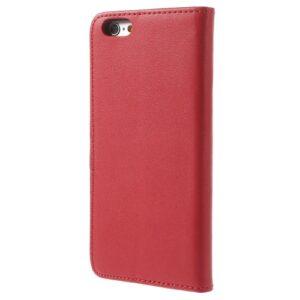 iPhone 6s / 6 Buch Etui Tasche Echtleder mit Kartenfach Rot