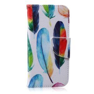 iPhone 6s / 6 Buch Etui Tasche mit Kartenfach Farbige FederniPhone 6s / 6 Buch Etui Tasche mit Kartenfach Farbige Federn