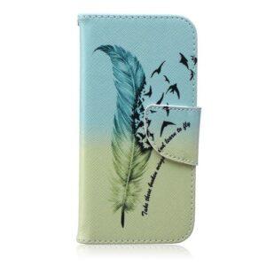 iPhone 6s / 6 Buch Etui Tasche mit Kartenfach Fliegende Feder