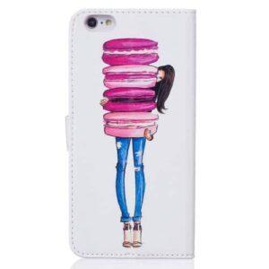 iPhone 6s / 6 Buch Etui Tasche mit Kartenfach Macarons