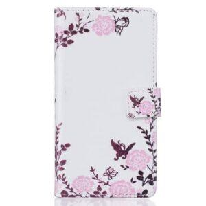 iPhone 6s / 6 Buch Etui Tasche mit Kartenfach Rosen