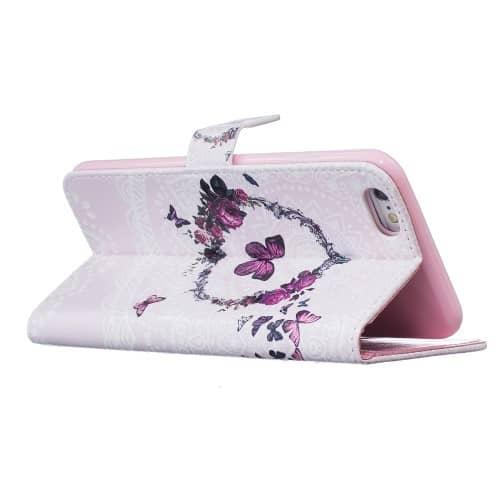 iPhone 6s / 6 Buch Etui Tasche mit Kartenfach Schmetterling Kreis