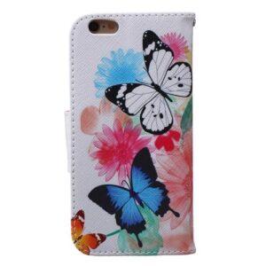 iPhone 6s / 6 Buch Etui Tasche mit Kartenfach Schmetterlinge