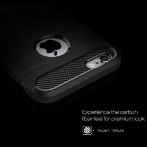 iPhone 6s / 6 Gummi Hülle TPU Carbon Optik