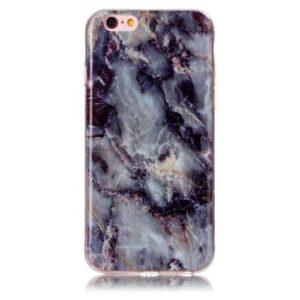 iPhone 6s / 6 Gummi Hülle TPU Marmor Optik Schwarz Blau