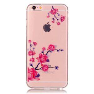 iPhone 6s / 6 Super Slim Gummi Hülle TPU Blüten