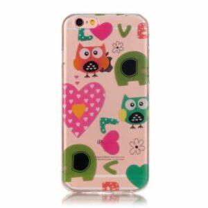 iPhone 6s / 6 Super Slim Gummi Hülle TPU Eule