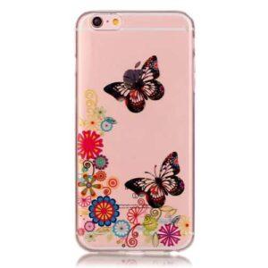 iPhone 6s / 6 Super Slim Gummi Hülle TPU Schmetterling