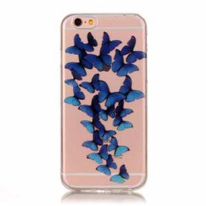 iPhone 6s / 6 Super Slim Gummi Hülle TPU Schmetterlinge