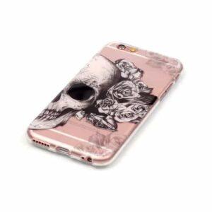 iPhone 6s / 6 Super Slim Gummi Hülle TPU Totenkopf