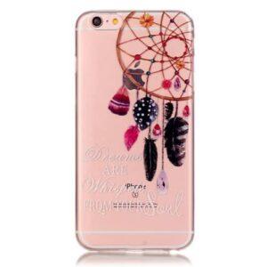 iPhone 6s / 6 Super Slim Gummi Hülle TPU Traumfänger Spruch (2)