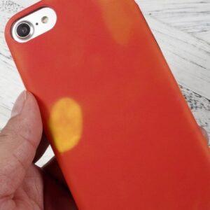 iPhone 8 / 7 Clip on Cover wärmeempfindlich Rot Orange