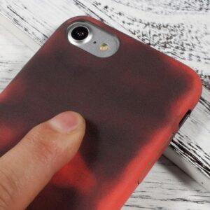 iPhone 8 / 7 Clip on Cover wärmeempfindlich Schwarz Rot