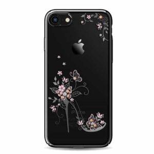 iPhone 8 / 7 Premium Swarovski Hardcase High-Heels Schmetterling