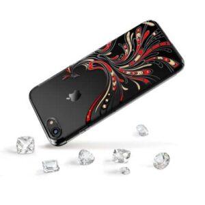 iPhone 8 / 7 Premium Swarovski Hardcase Phoenix Schwarz
