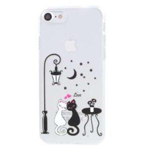 iPhone 8 / 7 Ultra Slim Hardcase Hülle verliebte Katzen