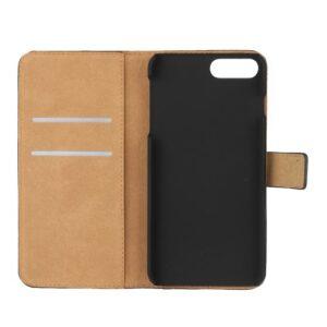 iPhone 8 Plus / 7 Plus Buch Etui Tasche Echtleder mit Kartenfach Schwarz