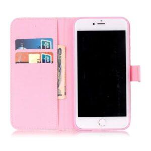 iPhone 8 Plus / 7 Plus Buch Etui Tasche mit Kartenfach Blumen