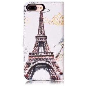 iPhone 8 Plus / 7 Plus Buch Etui Tasche mit Kartenfach Eiffelturm