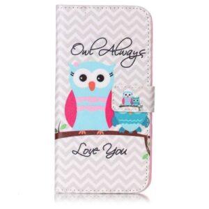 iPhone 8 Plus / 7 Plus Buch Etui Tasche mit Kartenfach Eule