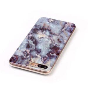 iPhone 8 Plus / 7 Plus Gummi Hülle TPU Marmor Optik Blau