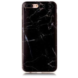 iPhone 8 Plus / 7 Plus Gummi Hülle TPU Marmor Optik Schwarz