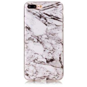 iPhone 8 Plus / 7 Plus Gummi Hülle TPU Marmor Optik Weiss
