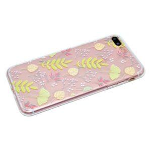 iPhone 8 Plus / 7 Plus Super Slim Gummi Hülle TPU Blätter