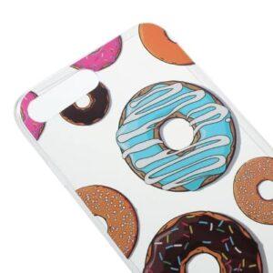 iPhone 8 Plus / 7 Plus Super Slim Gummi Hülle TPU Donuts