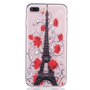 iPhone 8 Plus / 7 Plus Super Slim Gummi Hülle TPU Eiffelturm