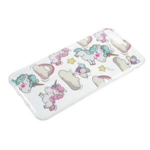 iPhone 8 Plus / 7 Plus Super Slim Gummi Hülle TPU Einhorn