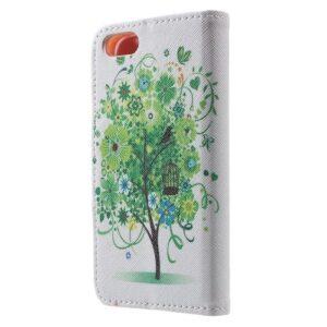 iPhone SE / 5s / 5 Buch Etui Tasche mit Kartenfach Baum