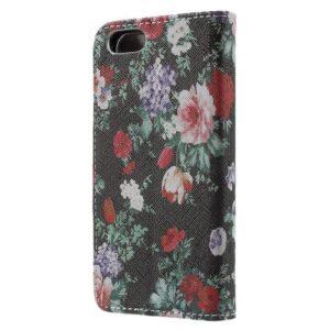 iPhone SE / 5s / 5 Buch Etui Tasche mit Kartenfach Blumen