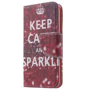 iPhone SE / 5s / 5 Buch Etui Tasche mit Kartenfach Calm