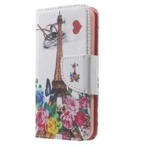 iPhone SE / 5s / 5 Buch Etui Tasche mit Kartenfach Eiffelturm