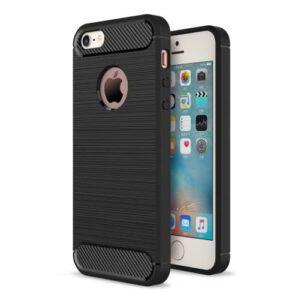 iPhone SE / 5s / 5 Gummi Hülle TPU Carbon Optik