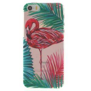 iPhone SE / 5s / 5 Super Slim Gummi Hülle TPU Flamingo 2