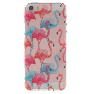 iPhone SE / 5s / 5 Super Slim Gummi Hülle TPU Flamingo