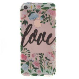 iPhone SE / 5s / 5 Super Slim Gummi Hülle TPU Love