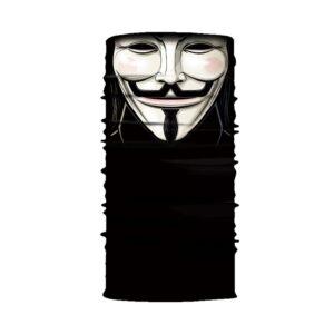 Ski und Snowbard Maske mit coolem Aufdruck mit dem Motiv Anonymous