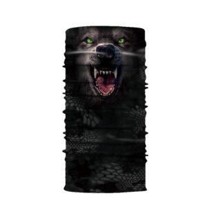 Ski und Snowbard Maske mit coolem Aufdruck mit dem Motiv Werewolf